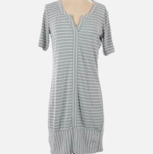 Athleta  Gray and White Stripe Active Dress XS